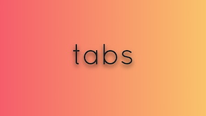 Simple tabs element with vanilla js and animation effect
