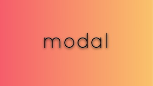 Simple modal element with vanilla js and animation effects