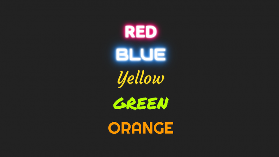 Neon glow text with pure css