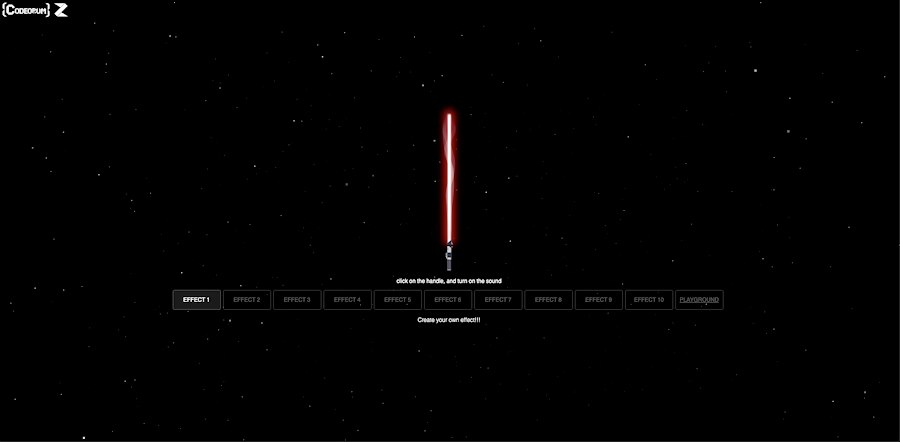 Lightsaber animation