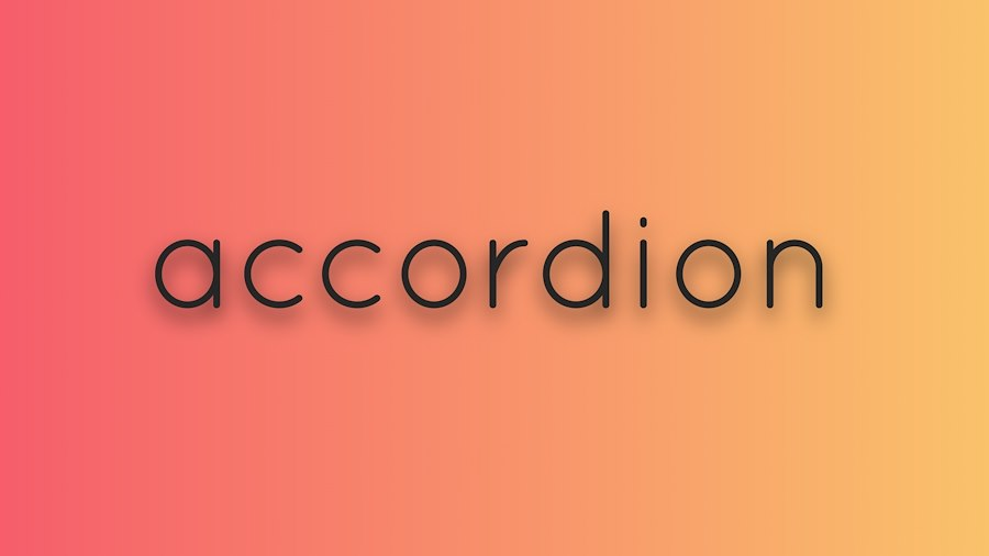 Simple accordion-collapsible element with vanilla js and simple animation effect